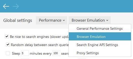 Select Browser Emulation