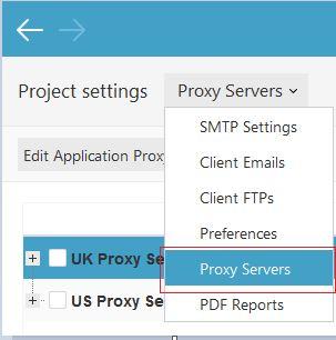 Select Proxy Servers