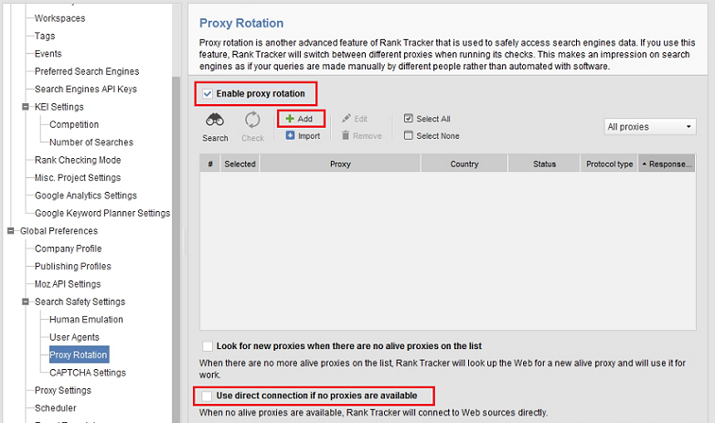 Configure Rank Tracker to Use Proxy Servers - Help Guides - Trusted